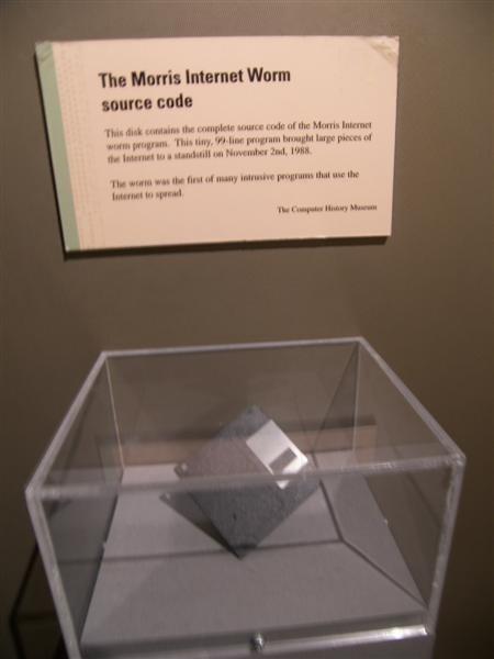 存有莫里斯蠕蟲原始碼的磁碟