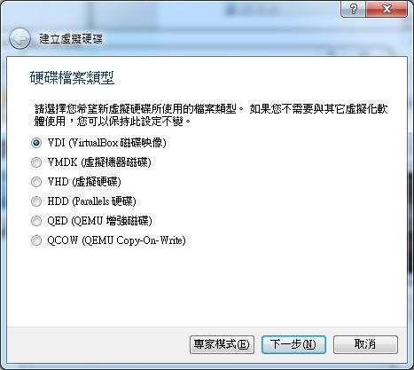 硬碟檔案類型