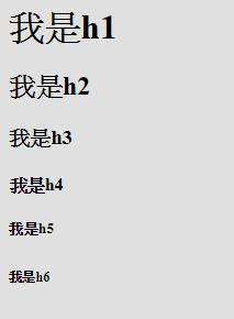 h1~h6,標題標籤
