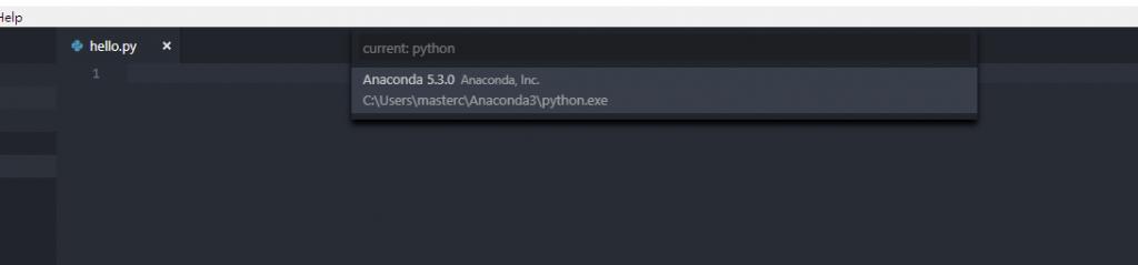 select anaconda