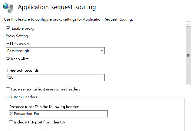 enable proxy