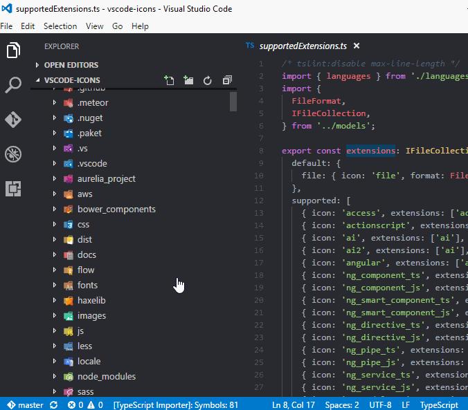 vscode-icons 預覽圖片