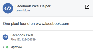 FB Pixel成功安裝畫面