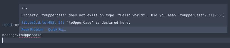 只要方法寫錯 TypeScript 甚至也會幫助我們提醒喔