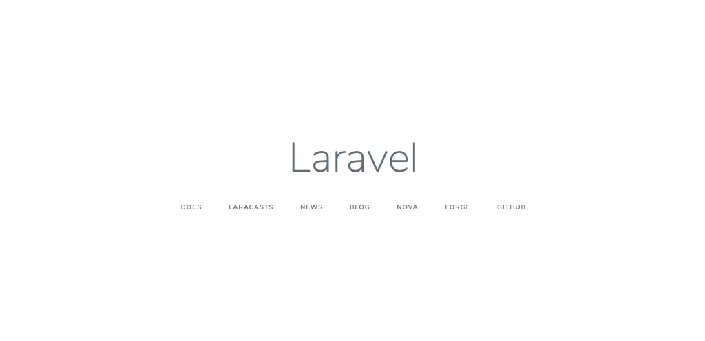 laravel安裝成功首頁