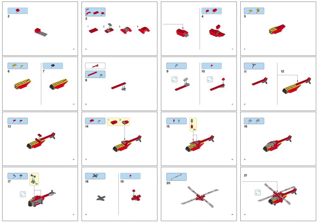樂高直升機製作完整手冊