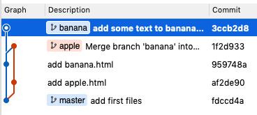 回到 banana 分支上編輯,banana 分支也持續的會往新 HASH 指向