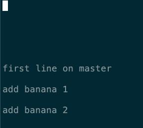 在 banana 分支上 fruit.txt 的內容