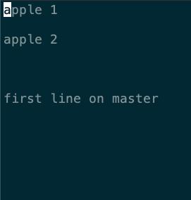 在 apple 分支上 fruit.txt 的內容