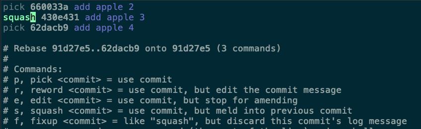 調整 430e431 commit 為 squash