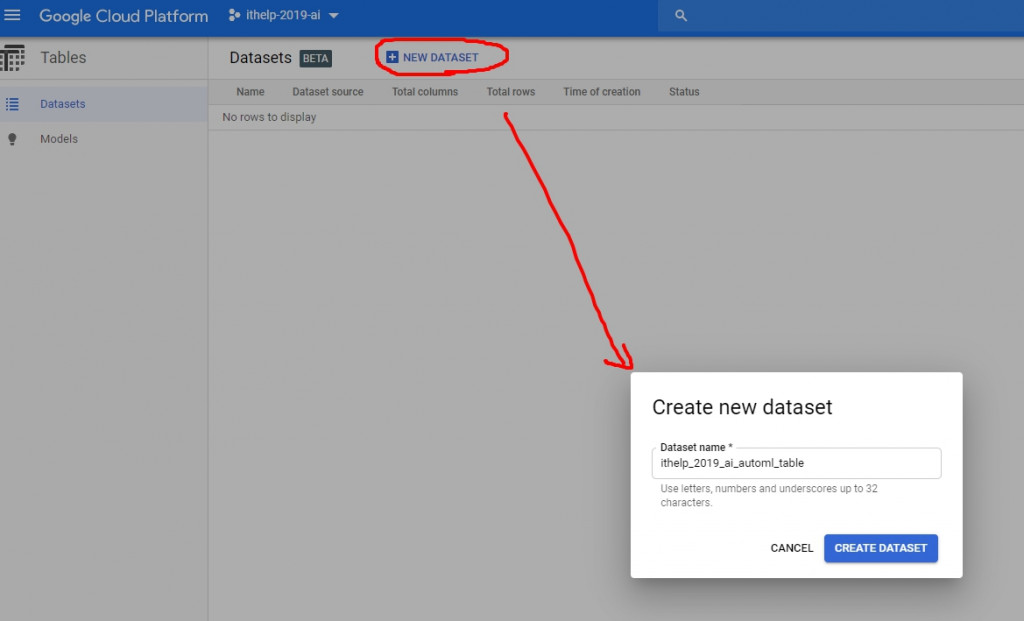 create dataset