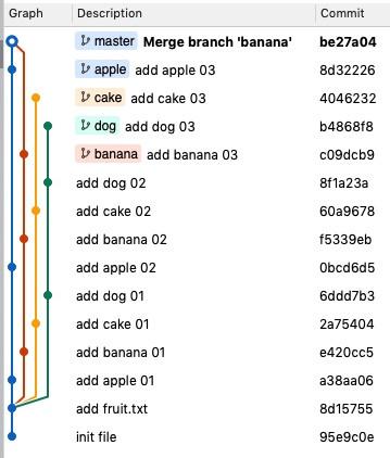 Banana 第二個 回到 master
