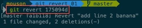 執行指令:git revert 175094d