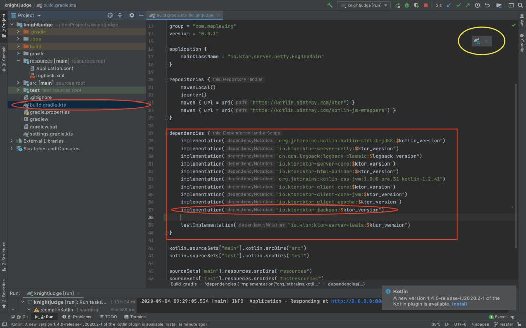 在 build.gradle.kts 檔案增加新套件的方式