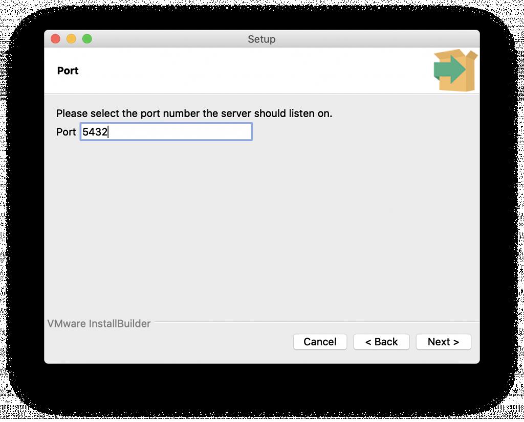 輸入 port 的頁面截圖