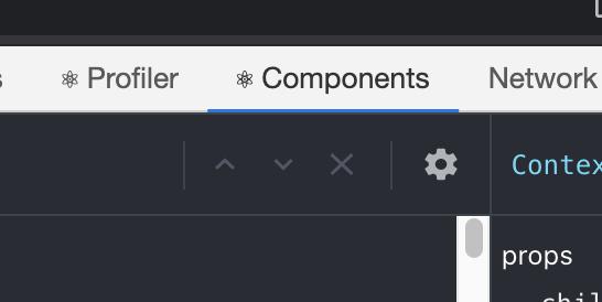 在有使用到 ReactJS 的頁面才會出現 component 以及 profiler 的 tab
