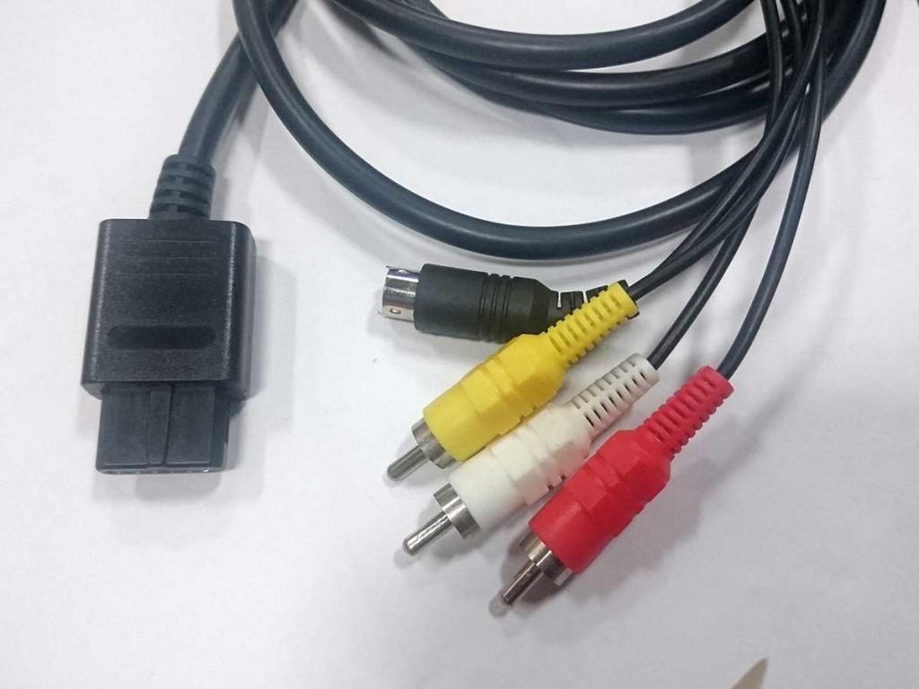NGC N64 SFC AV線 AV-S 訊號線 端子線 音頻線 兩用