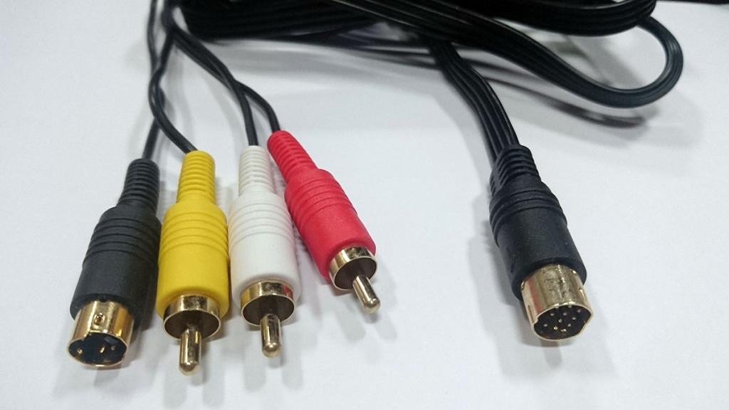 SEGA SATURN SS專用 特規 鍍金高品質 S端子+AV 2合1雙輸出線材
