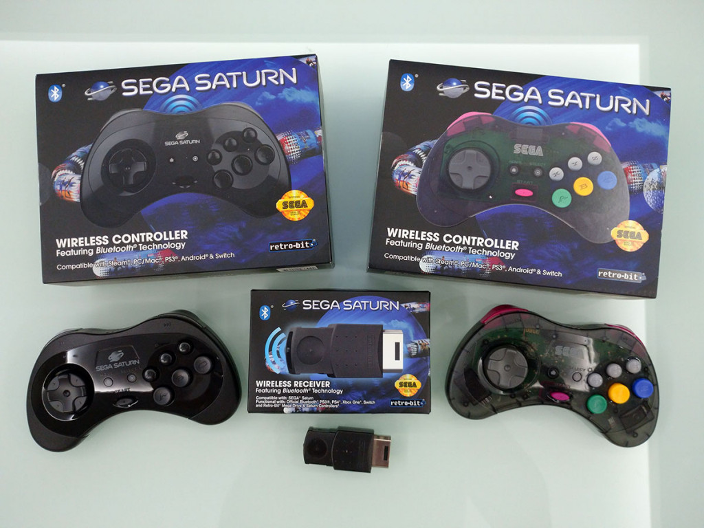 Retro-bit SEGA® Saturn Bluetooth Receiver + SEGA Saturn® Bluetooth® Wireless Control Pad