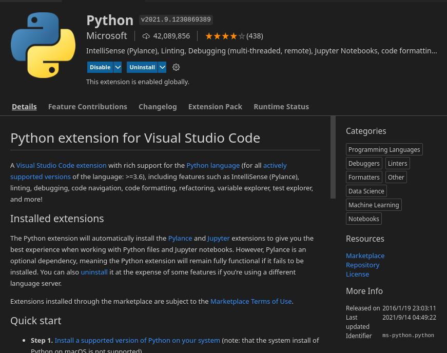 vscode python extension