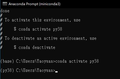 miniconda activate