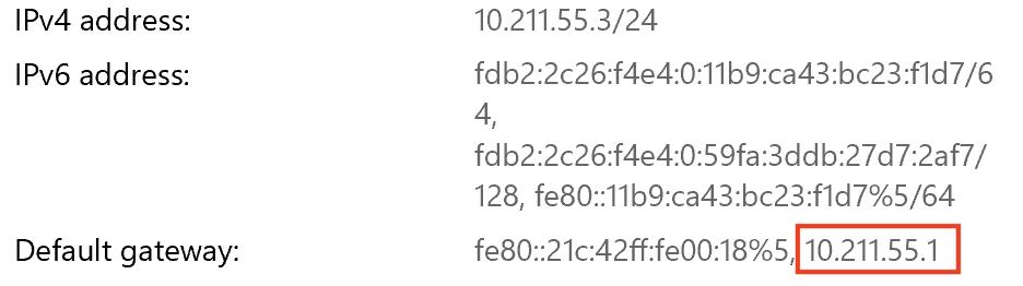 Windows 網路設定資訊