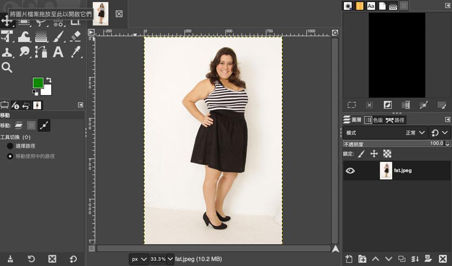 GIMP 教學 - 胖子變瘦子